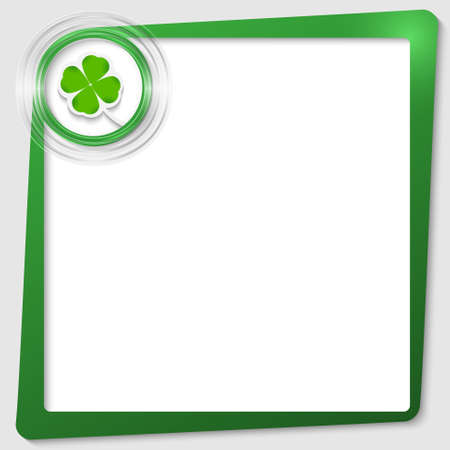 green text frame and transparent circles with a cloverleaf Stock Vector - 23104239