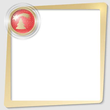 christmas motif: golden text frame and transparent circles with a Christmas motif Illustration