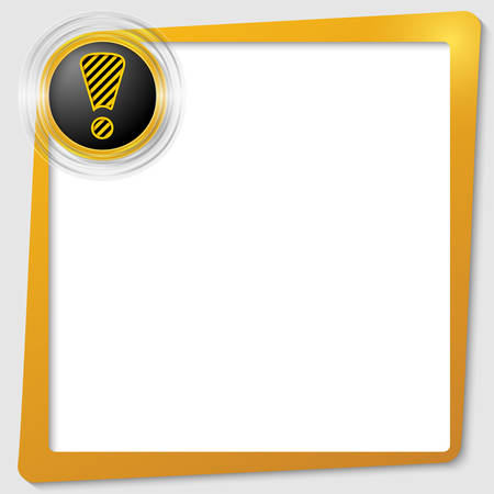yellow text frame and transparent circles with a exclamation mark Stock Vector - 23104250