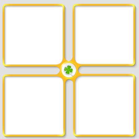 cloverleaf: four vector text frame with cloverleaf Illustration