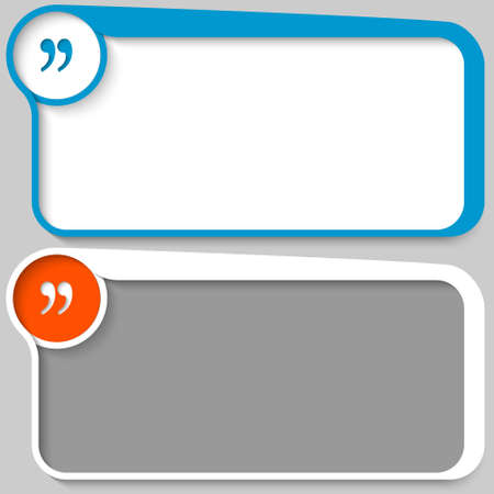 two vector text box and quotation mark