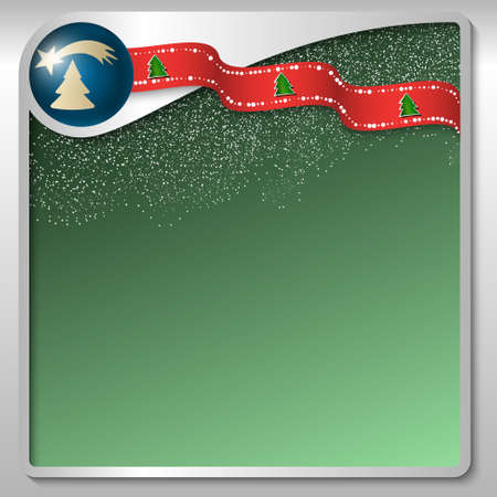 christmas motif: silver text box with a Christmas motif and falling snow