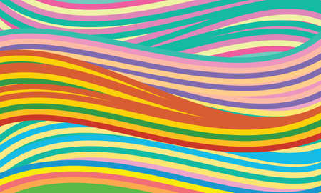 curlicue: abstract vector background with colored lines