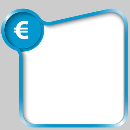 euro teken: blauw tekstvak voor alle tekst met eurosymbool Stock Illustratie
