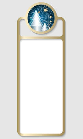 christmas motif: vertical box for any text with a Christmas motif Illustration