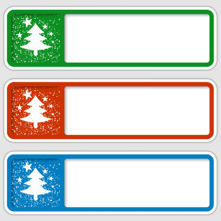 christmas motif: set of three frames for any text with a Christmas motif Illustration