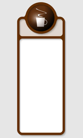 brown box: brown box for any text with cup of coffee