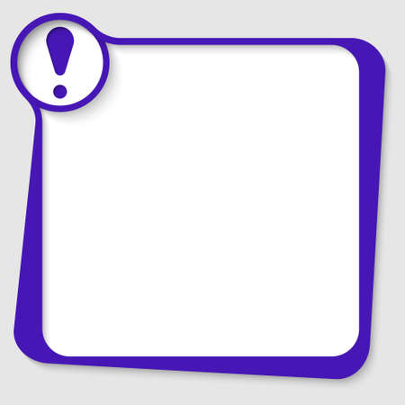 any: blue blank  text box for any text with exclamation mark Illustration