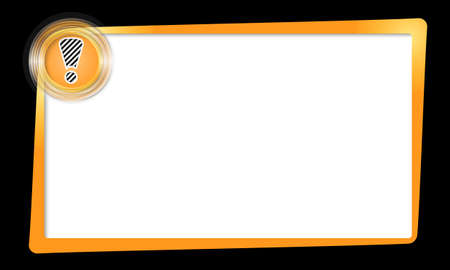 yellow text frame and transparent circles with exclamation mark Stock Vector - 24681751