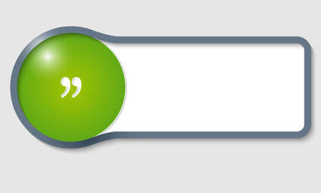 quotation: gray text frame for any text and quotation mark Illustration