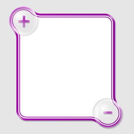purple text box for any text with two signs Vector