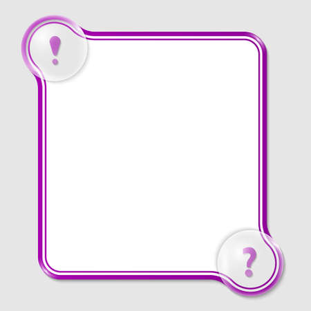 purple text box for any text with two marks Vector