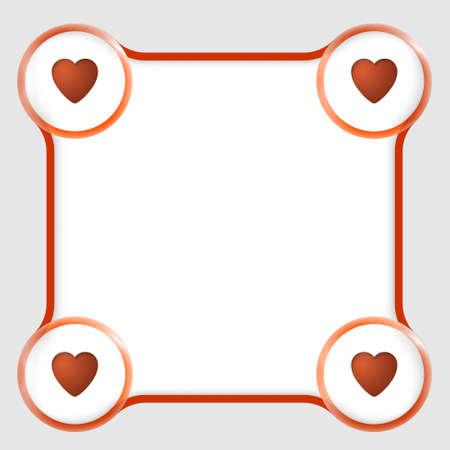 bordure de page: rouge zone de texte pour n'importe quel texte et les coeurs