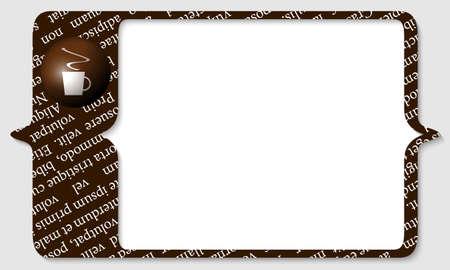 brown box: scatola marrone per qualsiasi testo con una tazza di caff�