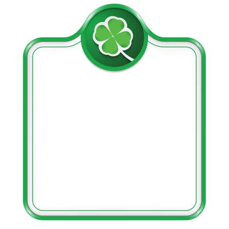 cloverleaf: green vector box for text with cloverleaf