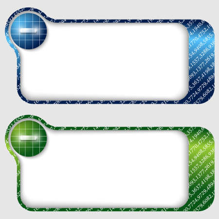 deficiency: set of two abstract text frames with minus sign Illustration