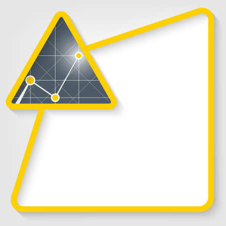 insertion: yellow vector text box for insertion text with graph Illustration