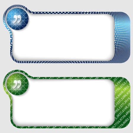 set of two abstract text frames with quotation mark Vector