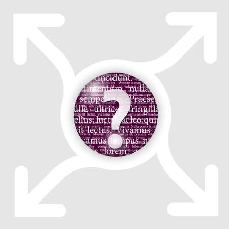 abstract circle with four arrows and question mark Vector