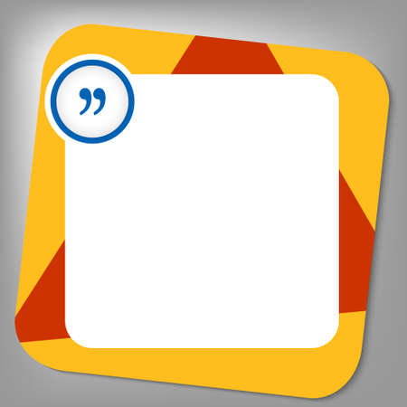 quotation: red and yellow box for any text with quotation mark