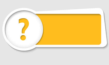 insertion: vector text box for insertion text with question mark Illustration
