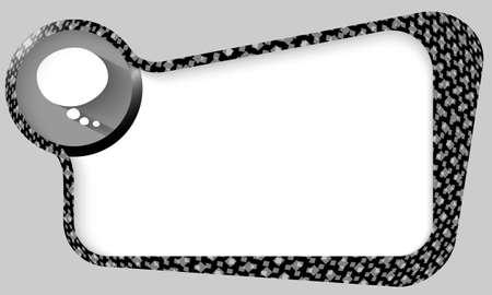 multiply: cuadro negro con textura de cuadrados se multiplican y la burbuja del discurso