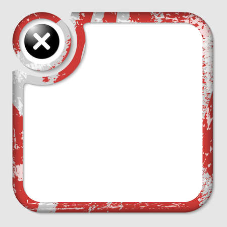 interdict: red box for inserting text with pattern and ban sign