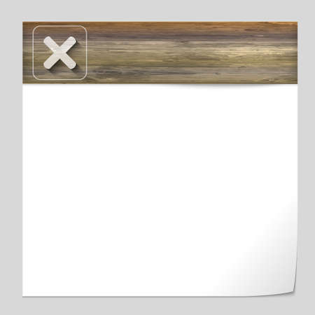 interdict: vector banner with wood texture and ban sign