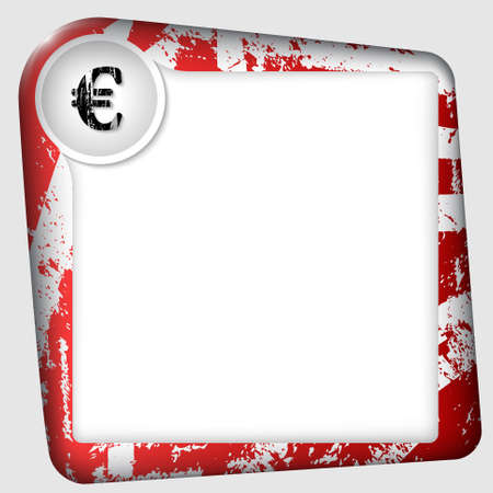 inserting: frame for inserting text with euro sign Illustration