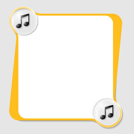 vector text box for any text with two music icons