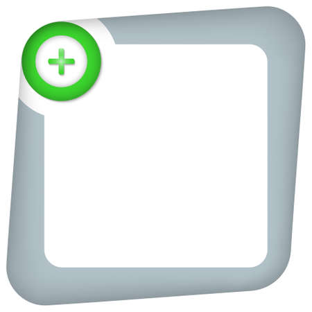 green plus: abstract box for entering text with green plus sign