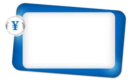 yen sign: marco abstracto para introducir texto con el signo de yenes