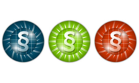 three colored: set of three colored icons with paragraph