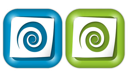 coil: set of two icons with paper and spiral