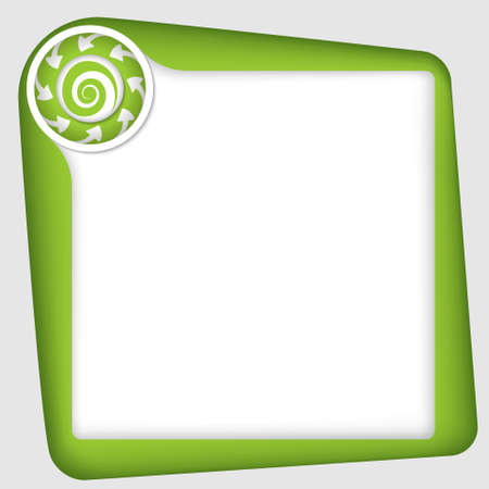 inserting: vector frame for inserting text with spiral Illustration