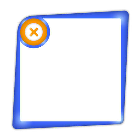 interdict: vector frame for entering text with ban mark