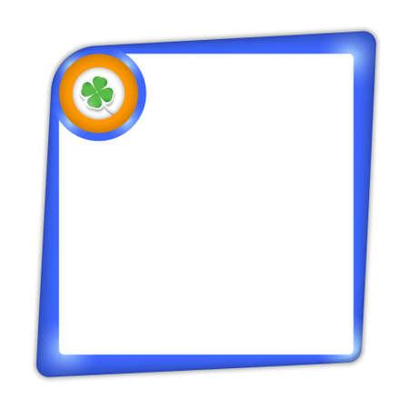 cloverleaf: frame for entering text with cloverleaf Illustration