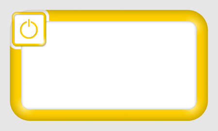 insertion: vector frame for text insertion with power button Illustration