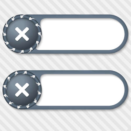 interdict: set of two vector buttons with arrows and ban sign