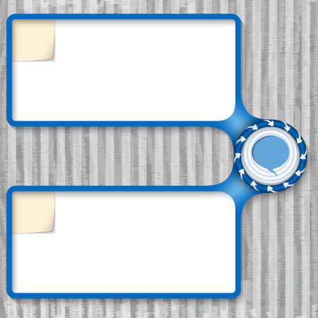 double box for entering text with arrows and speech bubble Vector