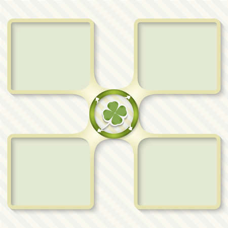 cloverleaf: four boxes for entering text with arrows and cloverleaf
