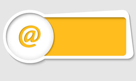 insertion: vector text box for insertion text with email icon Illustration