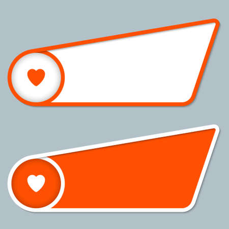 any: two orange boxes for any text with heart