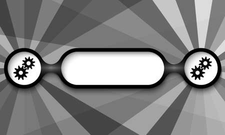 annular: black and white frame for any text with cogwheels Illustration