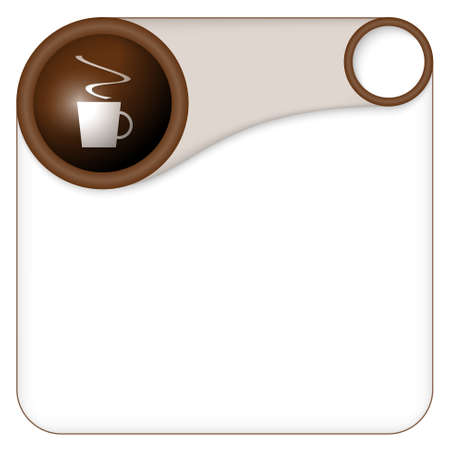 intermission: color box for entering text with cup of coffee