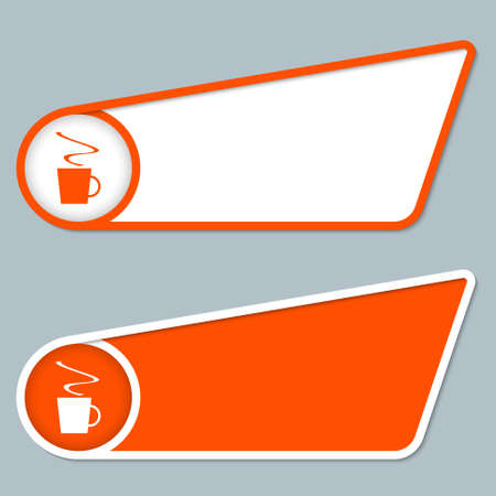intermission: two orange boxes for any text with cup of coffee