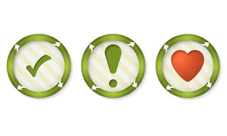 set of three icons with symbols Vector
