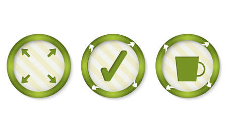 intermission: set of three icons with symbols