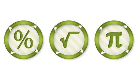 annular: set of three icons with symbols