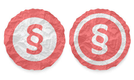 annular: two icons with texture crumpled paper and paragraph